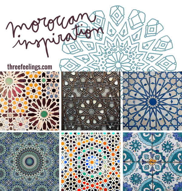 Inspiraci n marroqu three feelings for Mosaico marroqui