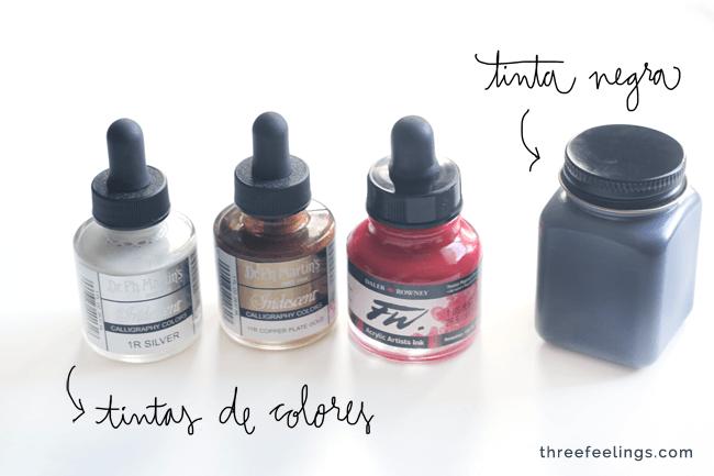 material imprescindible tinta
