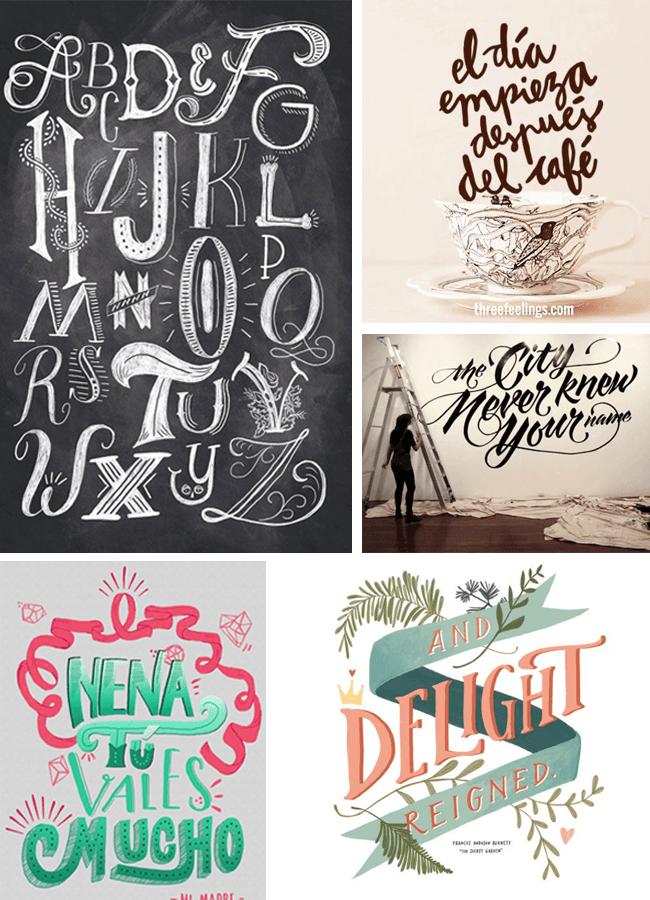 caligrafia lettering y tipografia - lettering