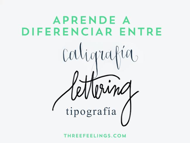 Aprende a diferenciar entre caligrafía tipografía y lettering