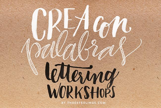 curso de lettering por threefeelings
