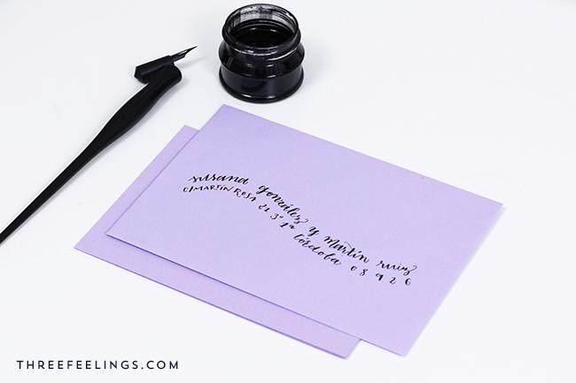 5 formas de personalizar un sobre con caligrafia