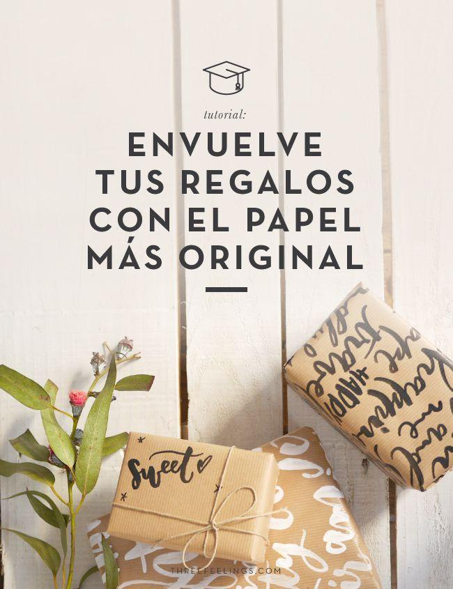 Tutorial envuelve tus regalos con el papel m s original - Papel de regalo original ...