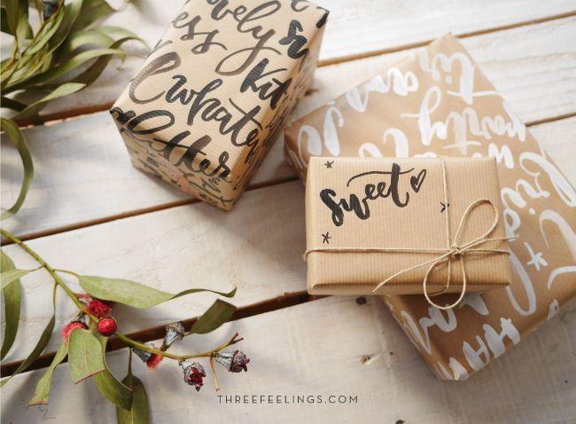 tutorial para envolver regalos - resultado
