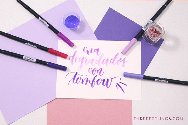 degradados con rotuladores tombow 3