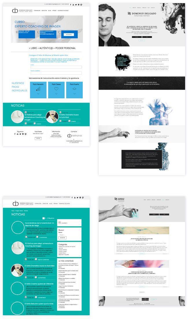 cliente diseño web personalizado antes y después
