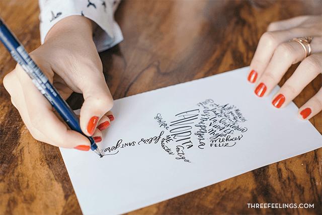 calígrama con caligrafía 03