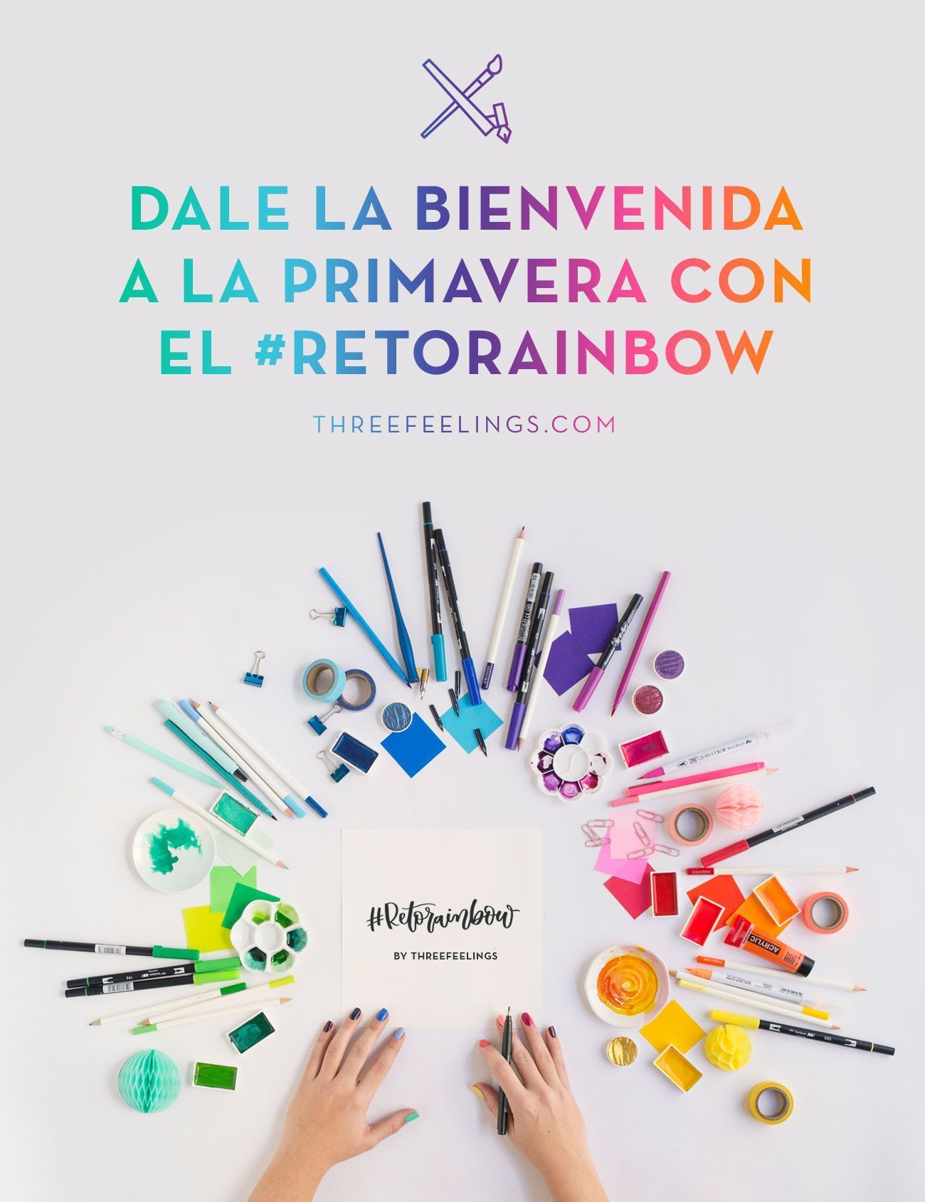 RetoRainbow-lettering-arcoiris-colores-ThreeFeelings-portada