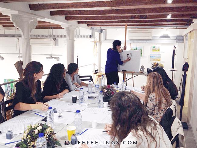 curso de caligrafía - barcelona - clase
