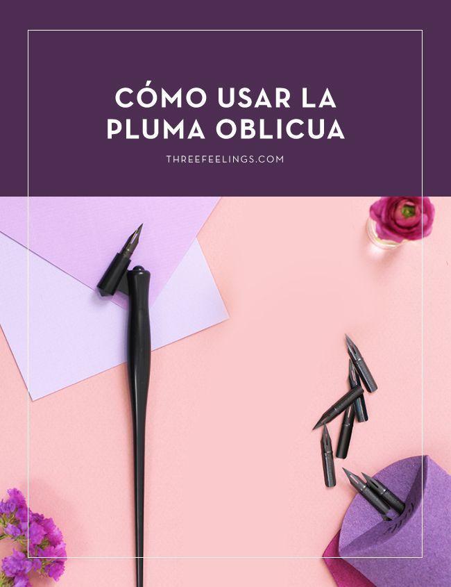 pluma-oblicua