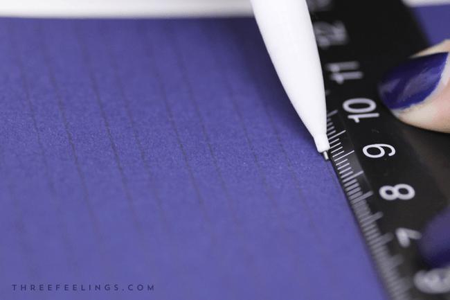 caligrafia con tinta blanca - guias