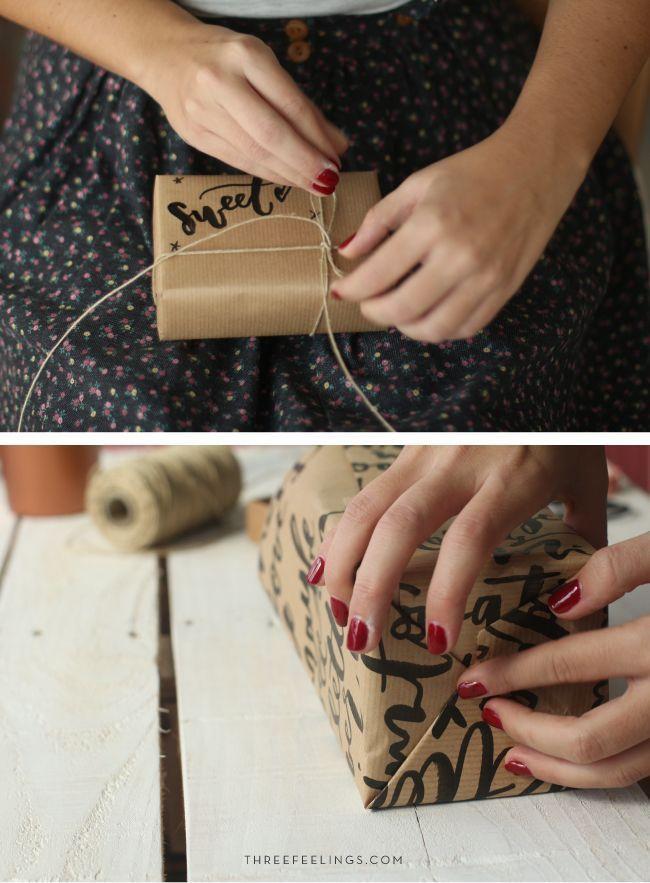 tutorial para envolver regalos - cuerda
