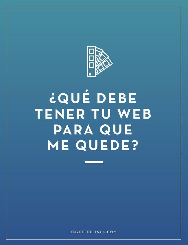 qué debe tener tu web