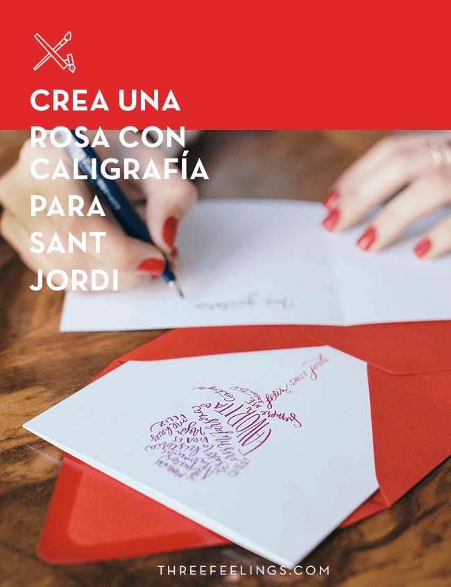 Crea Una Rosa Con Caligrafía Para Sant Jordi