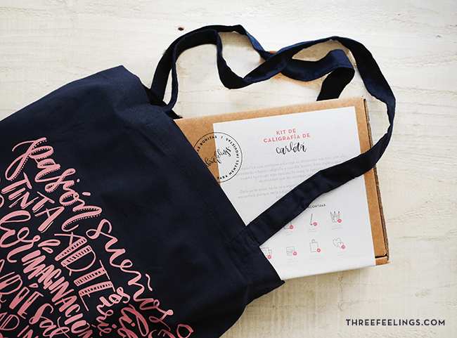 kit de caligrafía - totebag