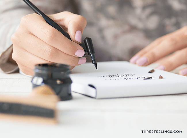 kit de caligrafía pluma