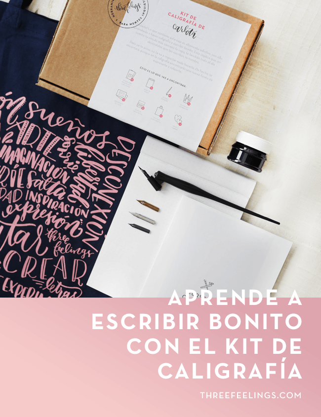 aprende a escribir bonito con el kit de caligrafía
