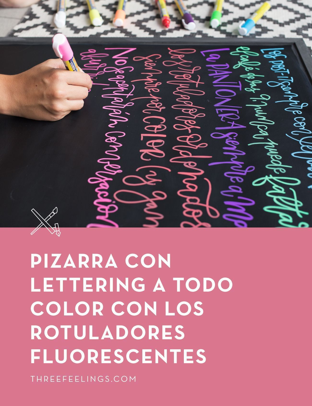 Cómo Escribir Con Lettering Y Caligrafía En Una Pizarra