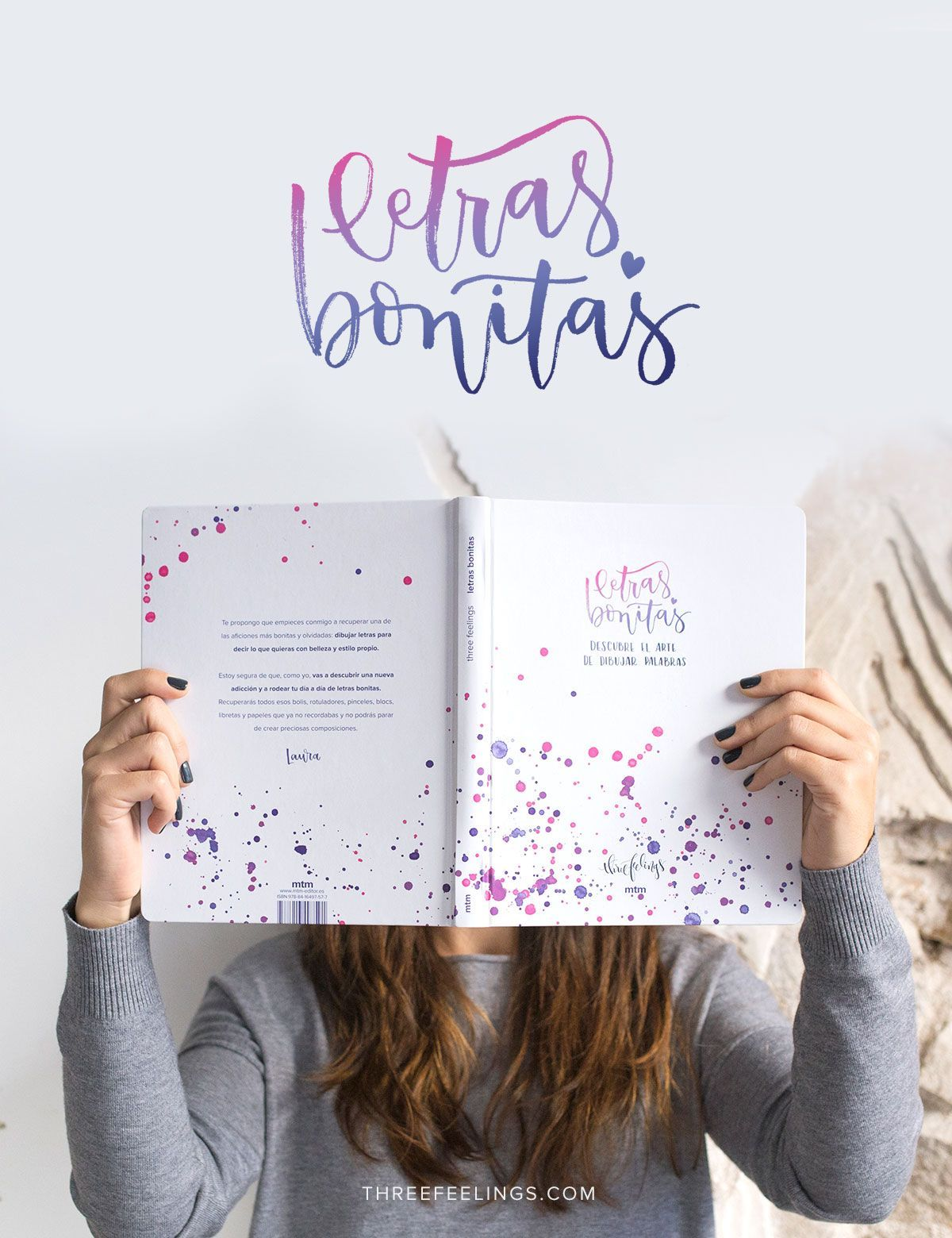 Libro Letras Bonitas: Aprende a dibujar palabras - Three Feelings