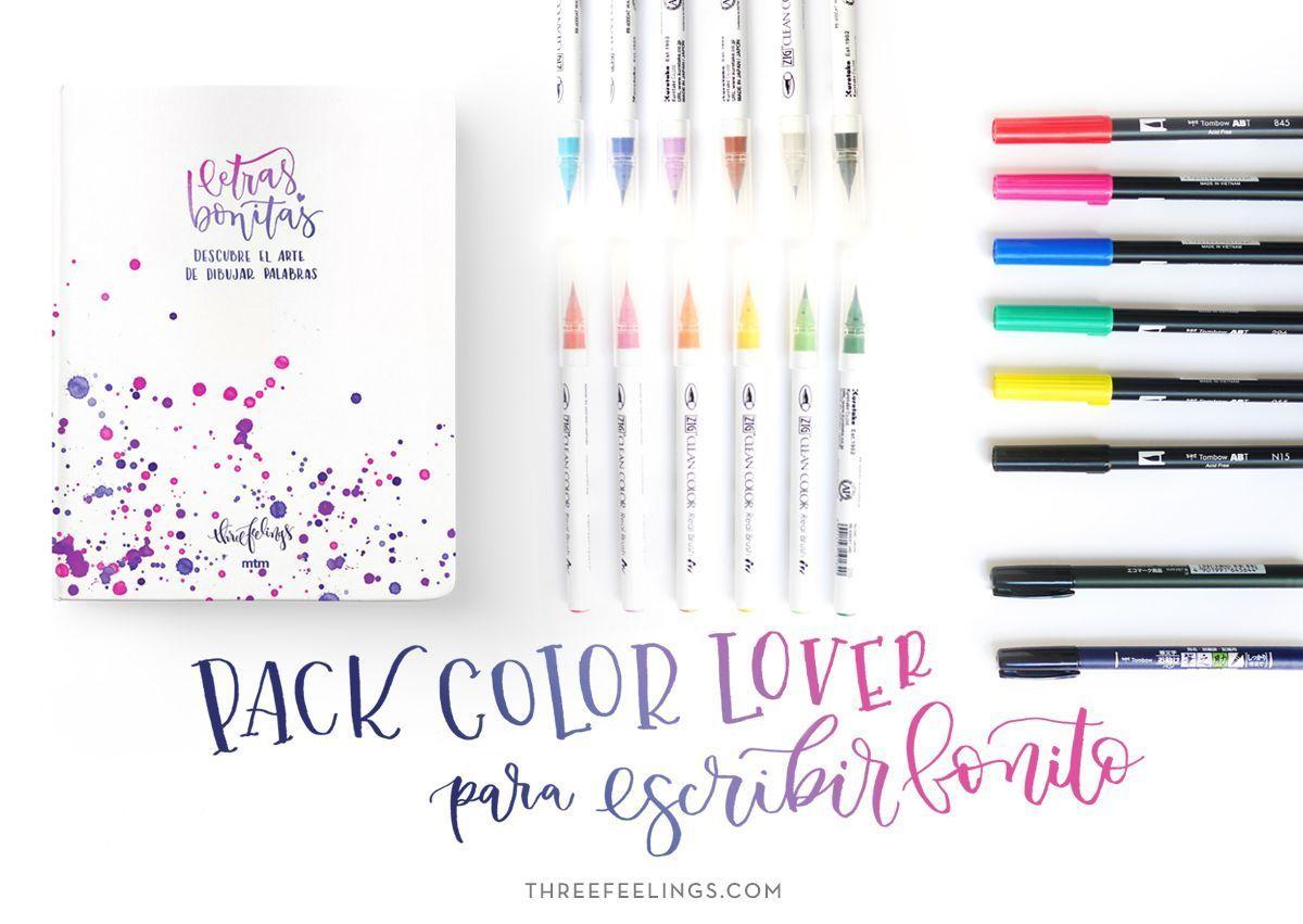 Pack Color Lover Con El Libro Letras Bonitas Three Feelings