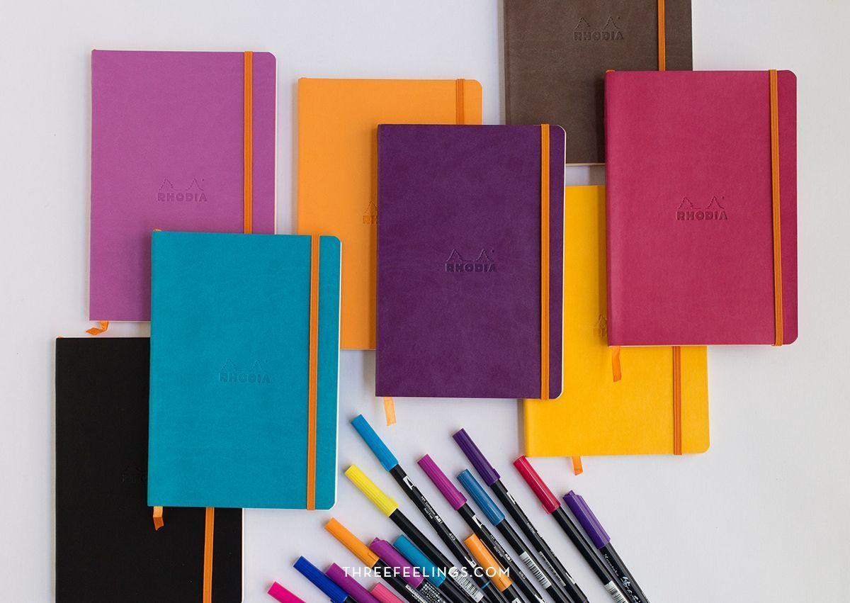 Cuaderno Rhodia con hojas punteadas