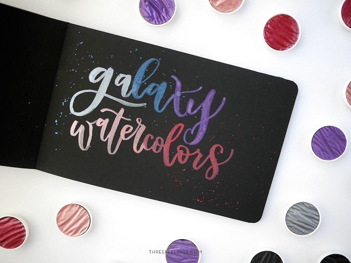 Acuarelas metalizadas: Galaxy Colors