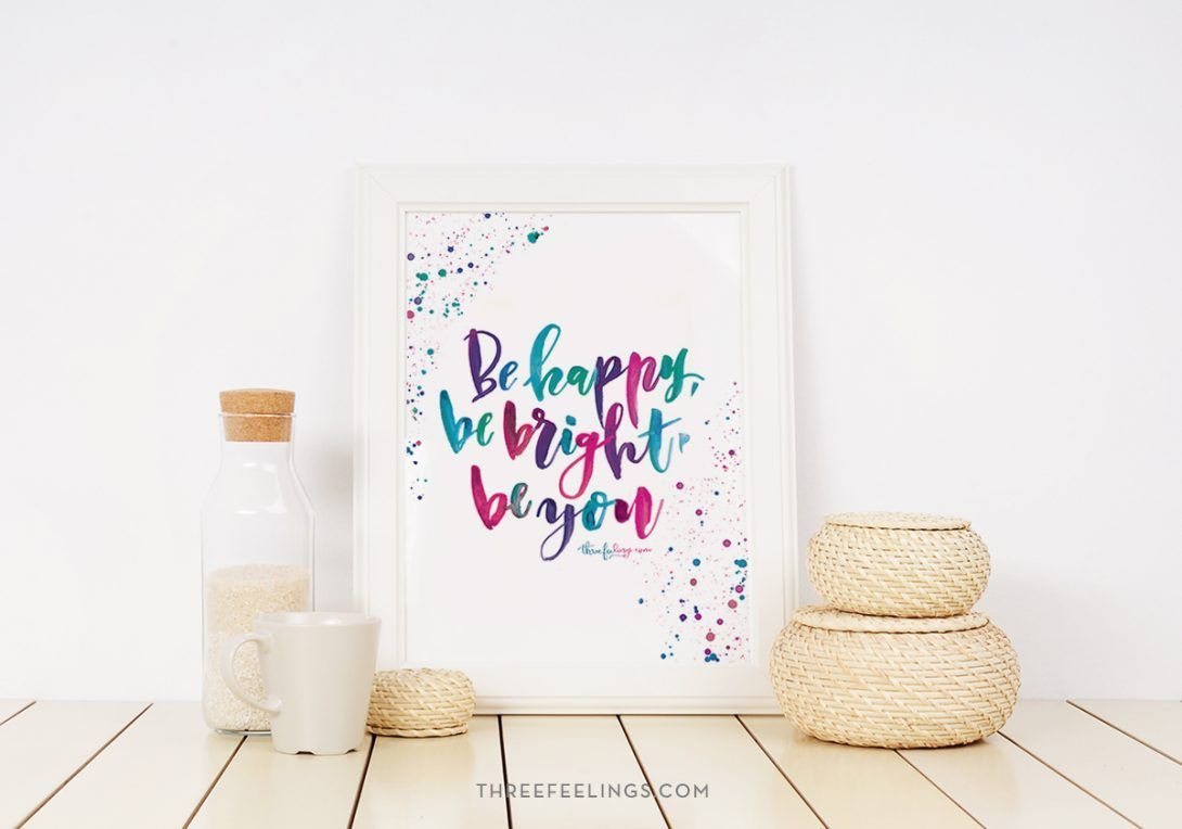 lamina-behappy-bebright-beyou-lettering-acuarela-threefeelings-01