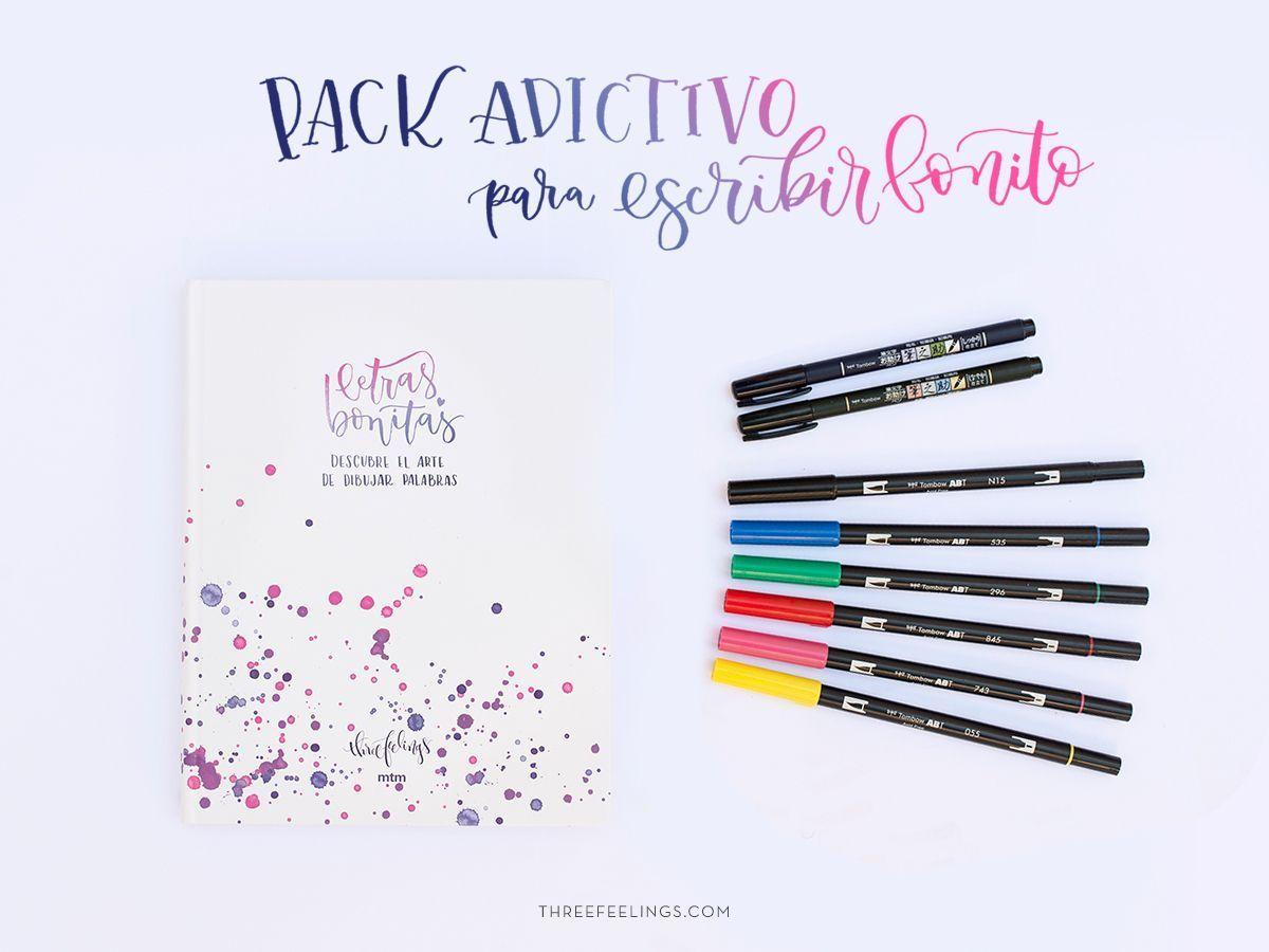 """Pack adictivo con el libro """"Letras bonitas"""" - Three Feelings"""
