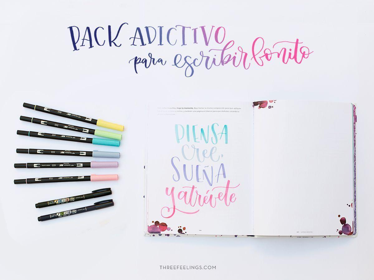 Pack Adictivo Con El Libro Letras Bonitas Three Feelings