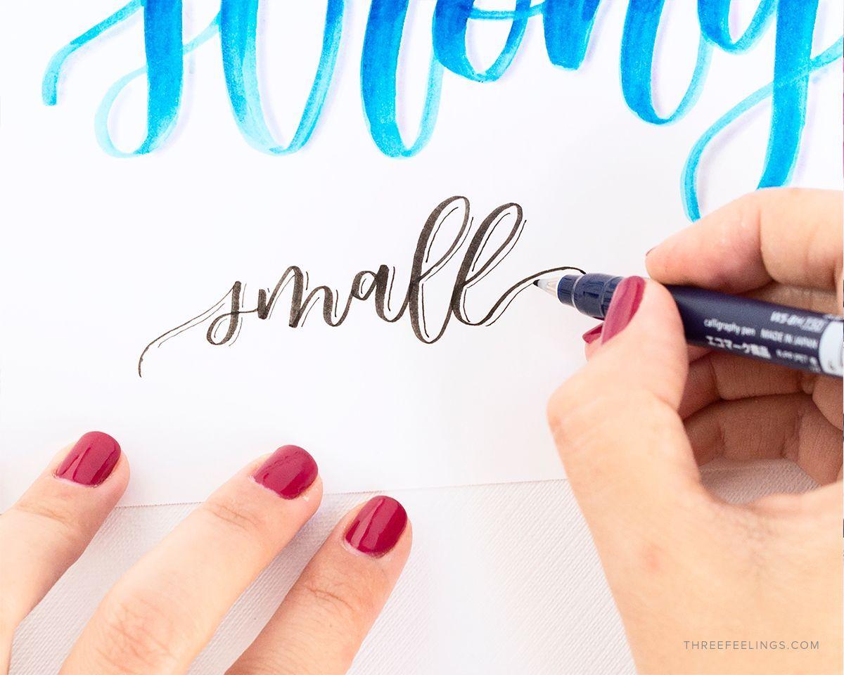 Crea las mejores sombras en lettering de forma correcta - Formas de letras para decorar ...