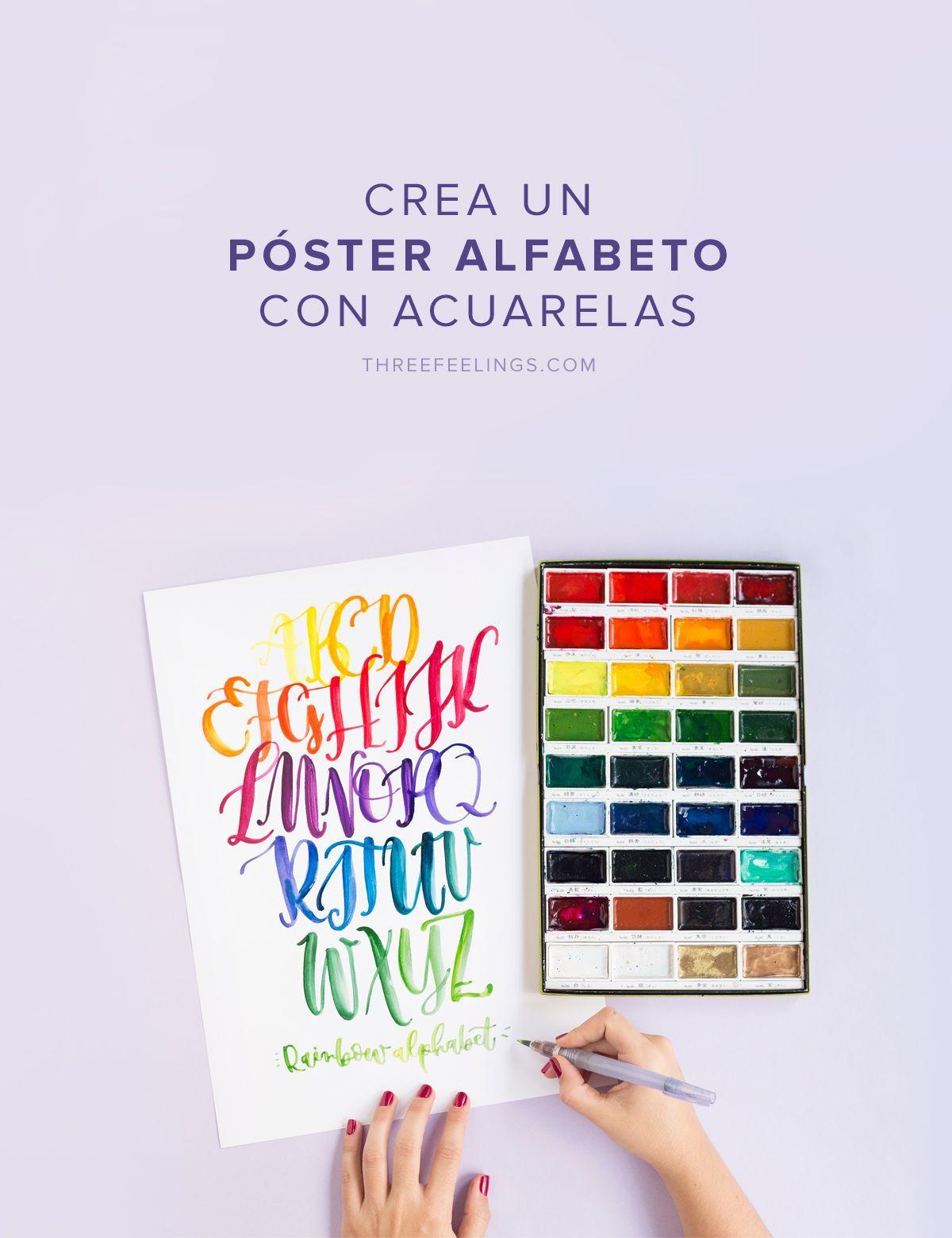 Crea Un Póster De Alfabeto Con Lettering Y Acuarelas