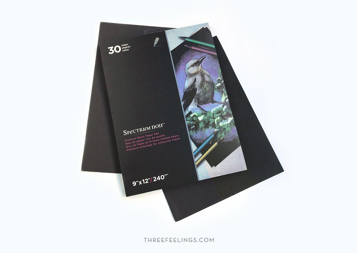 Bloc A4 de papel negro