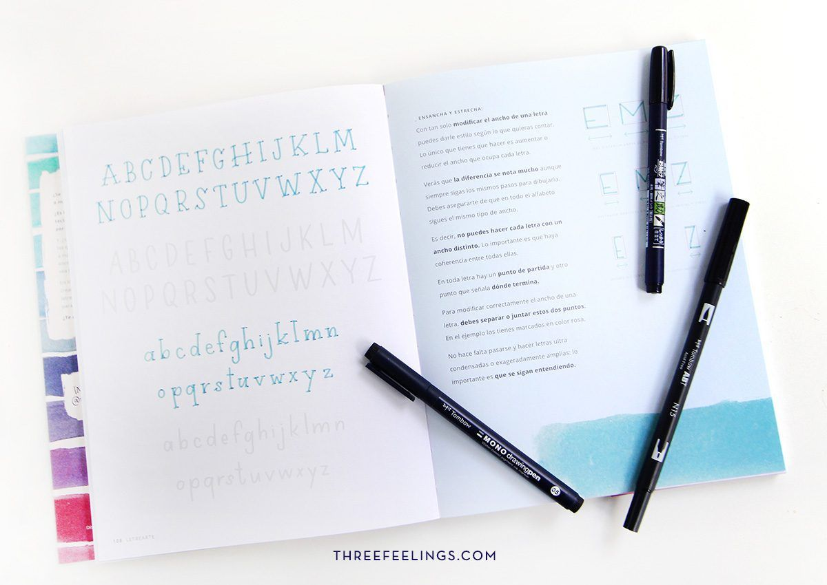 6-pack-libro-letrearte-threefeelings-tombow-escribe-bonito