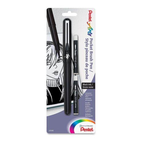 rotulador_punta_pincel_pentel_2_recambios_negro_pentel_poket_brush_1