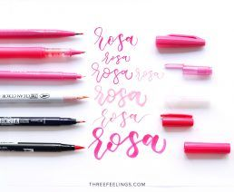 02-pack-rotuladores-monocromaticos-lettering-threefeelings-rosa