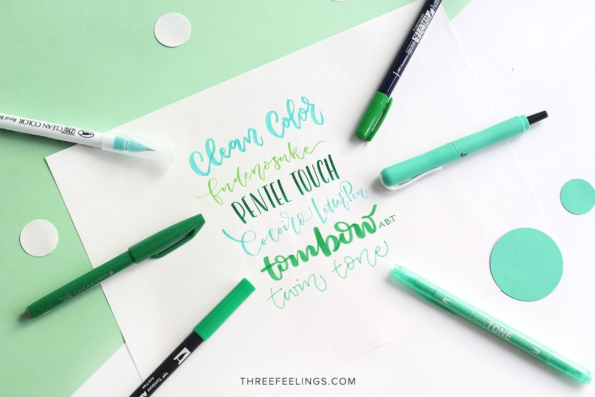 03-pack-rotuladores-monocromaticos-lettering-threefeelings-verde