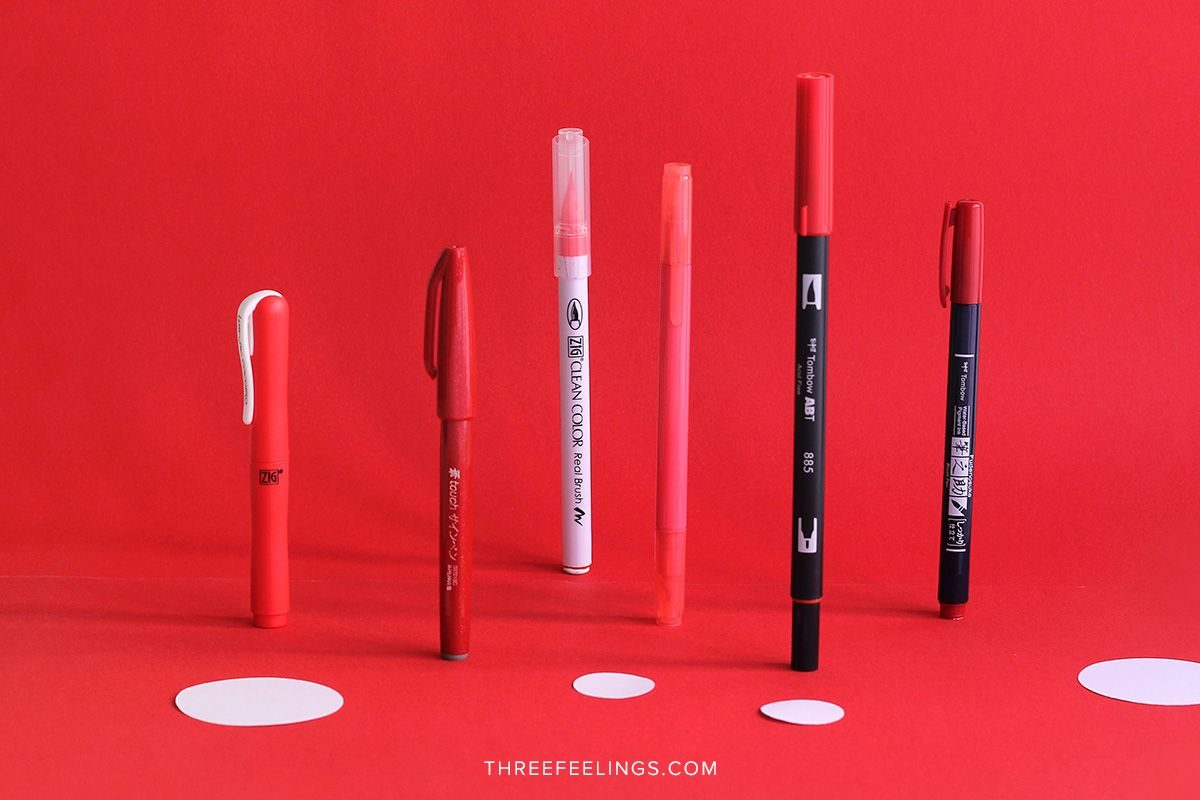 04-pack-rotuladores-monocromaticos-lettering-threefeelings-rojo
