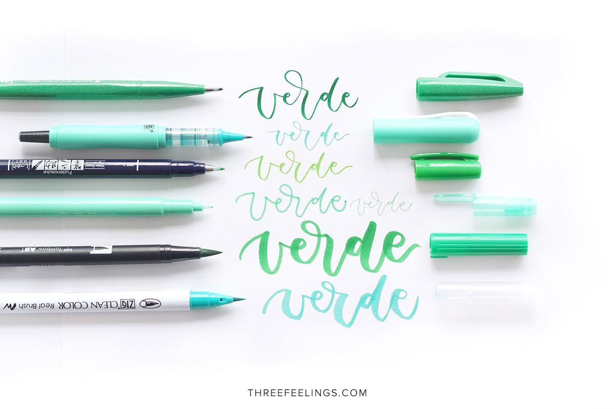 04-pack-rotuladores-monocromaticos-lettering-threefeelings-verde