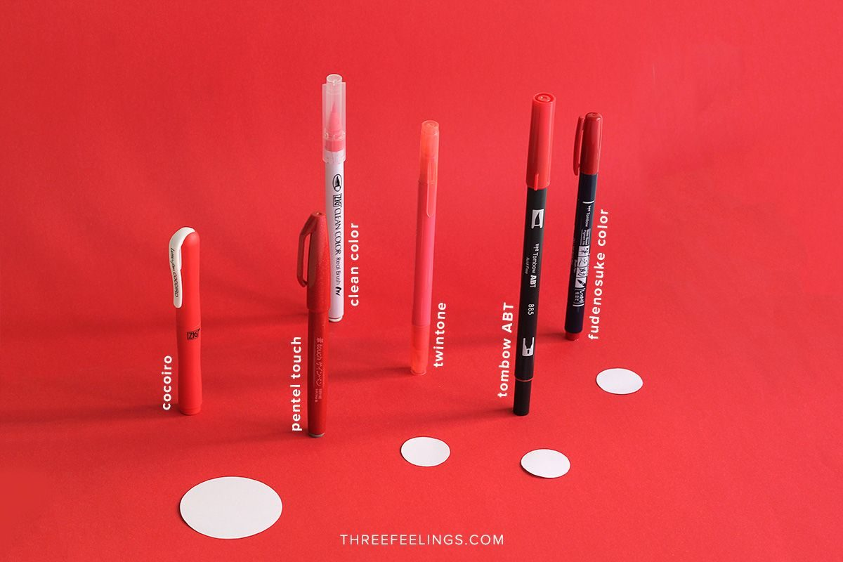 06-pack-rotuladores-monocromaticos-lettering-threefeelings-rojo