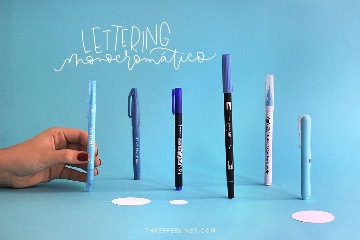 Monocromático para lettering azules